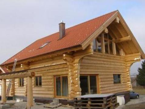 Casa lemn masiv cabana bustean valenii de munte for Case din lemn pret 5000 euro