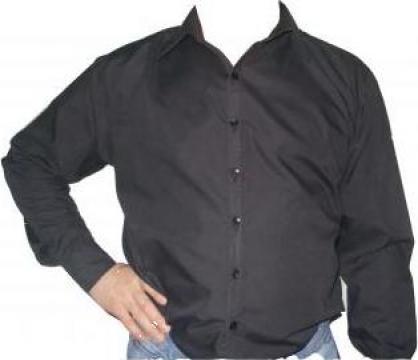 Camasa protectie neagra cu maneca lunga