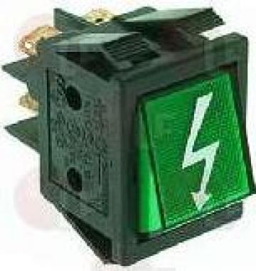 Buton bipolar verde pentru cuptor pizza electric 16A 250V