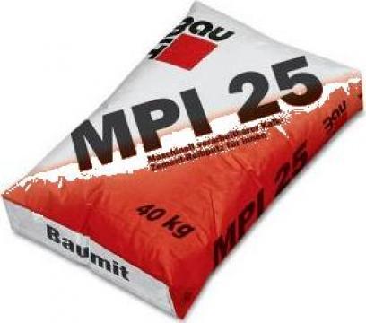 Tencuiala mecanizata var-ciment interior Baumit MPI 25 de la Baupro