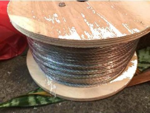 Cablu otel zincat 4mm, 100 ml de la Baza Tehnica Alfa Srl