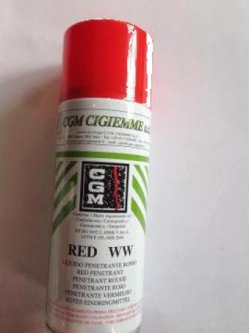 Spray cu lichid penetrant, ambalaj la 500 ml de la Baza Tehnica Alfa Srl