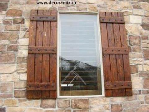 Obloane lemn, rustice de la Decoramix Srl