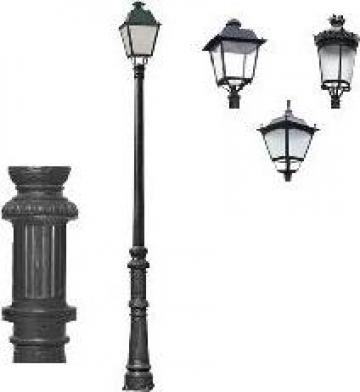 Stalp iluminat ornamental clasic fonta PLGFO2 de la Palagio System Group