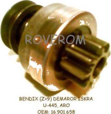 Bendix (Z=9dinti) demaror Iskra U445, ARO, Deutz 911, 912 de la Roverom Srl