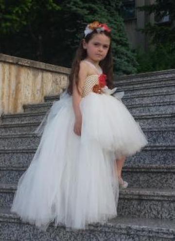 Rochita ocazie din tulle pentru fetite 999 de la Sabine Decor Shop Srl-d