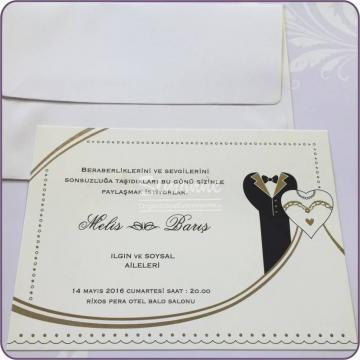 Invitatie eleganta nunta cu plic de la Simonne