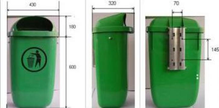 Cos de gunoi stradal 50 litri de la Glo Bal Smart