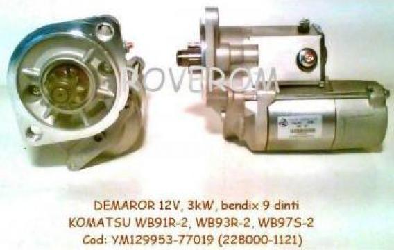 Demaror (12V, 3kW, bendix 9 dinti) Komatsu, Hitachi, Isuzu