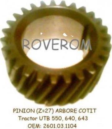Pinion (Z=27) arbore cotit motor tractor UTB 550, 640, 643