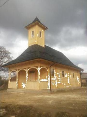 Biserica din lemn de brad Salaj C 270 de la Sc Home Lemn Srl