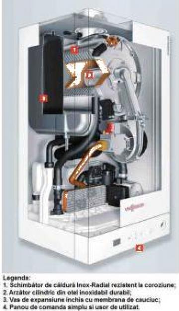 Centrala termica Viessmann Vitodens 050-W 24 kW