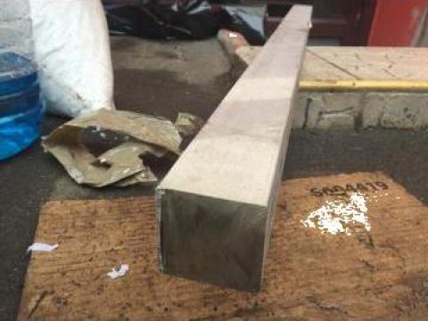 Bara patrata inox 50x50x600 mm, greutate aprox. 20 kg