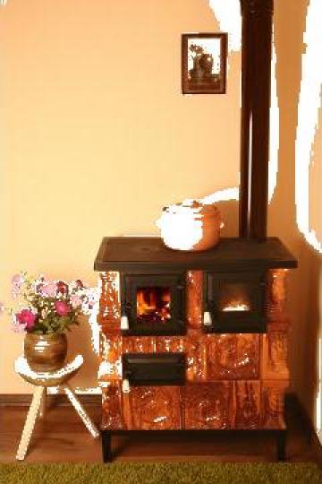 Soba premontata cu plita si cuptor 3r+p+C+s de la Ceramica De Manolescu Srl.