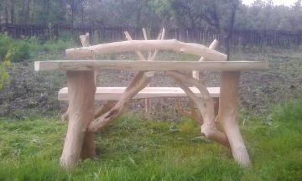 Masa rustica pentru gradina de la