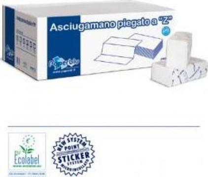 Prosoape hartie pliate in Z de la Gama International