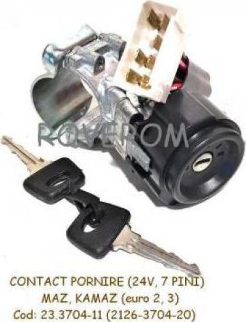 Contact pornire 24V, 7 pini, MAZ, KAMAZ euro 2, 3