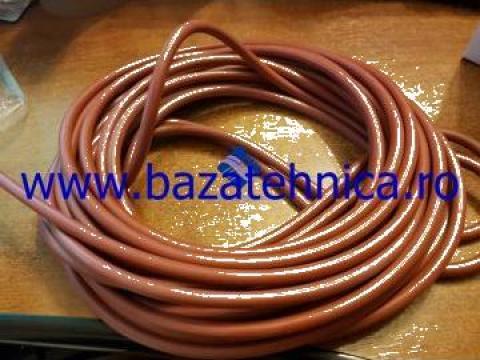 Cauciuc siliconic rosu sectiune rotunda fi 6 mm de la Baza Tehnica Alfa Srl
