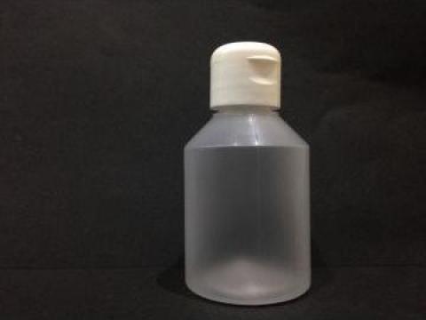 Flacon plastic transparent/alb 150 ml cu dop flip top de la Vanmar Impex Srl