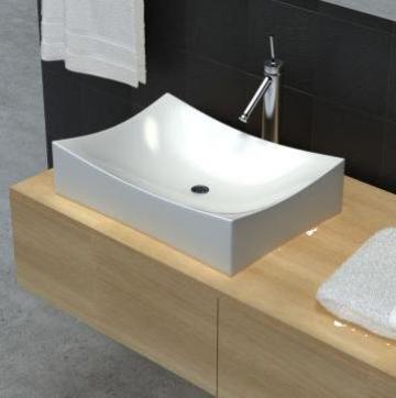 Chiuveta din ceramica pentru baie high gloss, alb de la Vidaxl