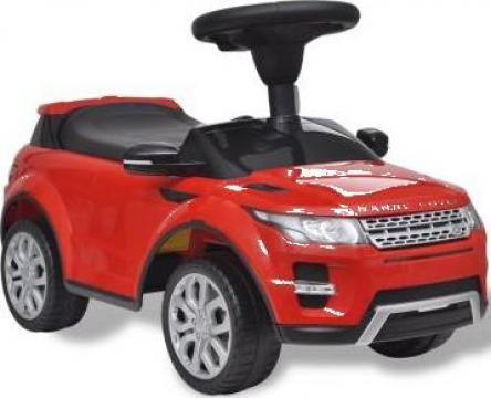 Jucarie masinuta pentru copii muzicala, Land Rover 348, rosu