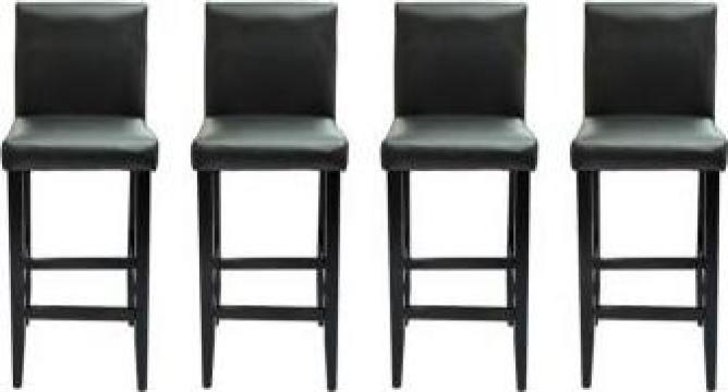 Set 4 scaune bar piele artificiala, negru de la Vidaxl