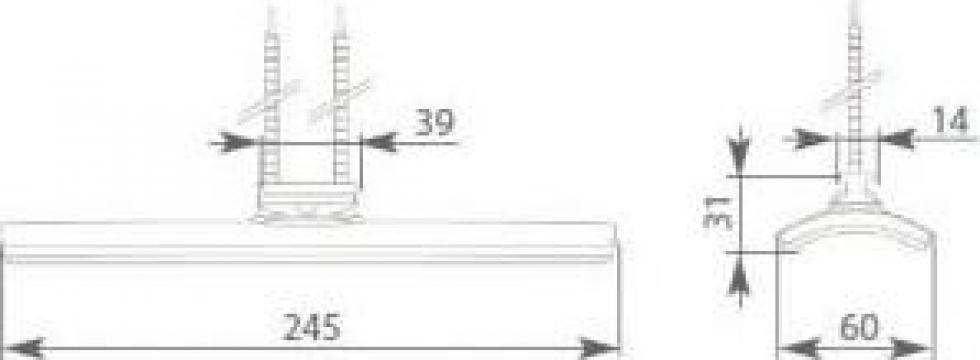 Rezistenta ceramica 750 wati curba 245x60 mm de la Tehnocom Liv Rezistente Electrice, Etansari Mecanice