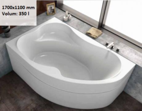 Cada baie colt asimetrica 170x110 cm