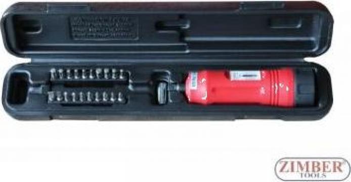Set surubelnita dinamometrica mecanica cu reglaj (1-5 Nm)