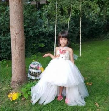 Rochita eleganta ivory pentru copii 1424 de la Sabine Decor Shop Srl-d