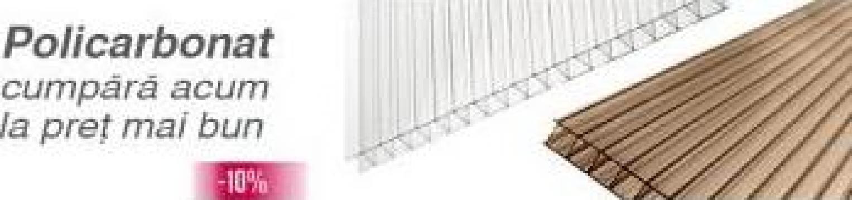 Policarbonat transparent / fumuriu 4, 6, 8, 10, 16, 20, 25mm de la Depo Materiale Constructii Srl