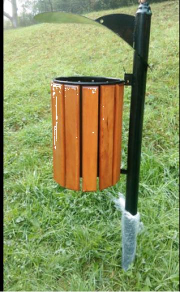 Cos de gunoi cu capac protector pentru parc de la Ygrocris Dorally Steel Srl
