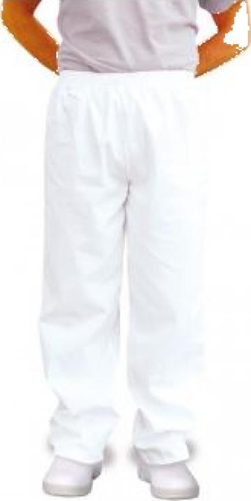 Pantalon alb tercot pentru fabrici