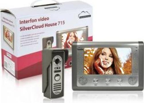 Interfon video SilverCloud House 715 cu ecran LCD de 7 inch de la Electro Supermax Srl