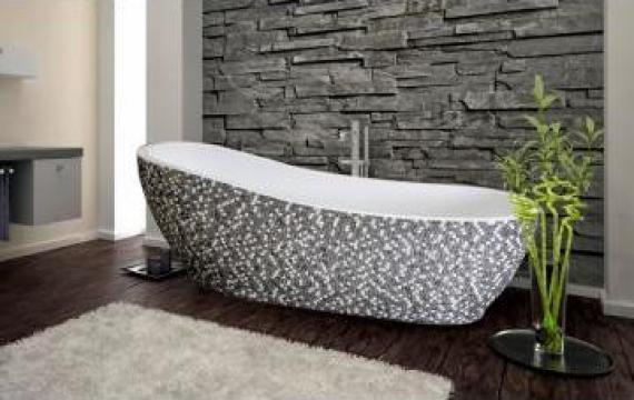 Cada baie ovala cu mozaic 169x169 cm