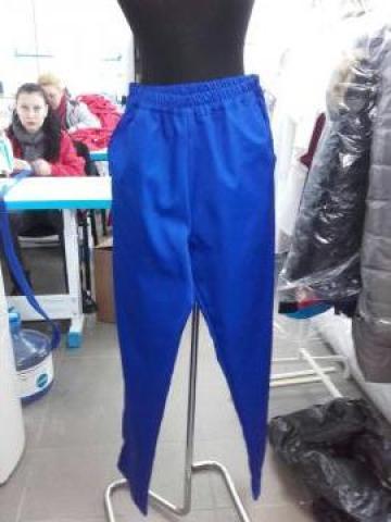 Pantalon albastru de salopeta