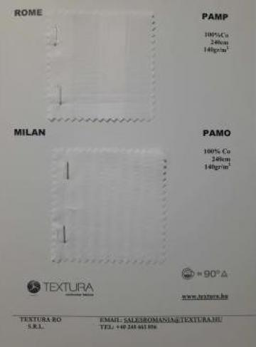 Tesatura damasc in dungi pentru lenjerii de la Textura Ro Srl