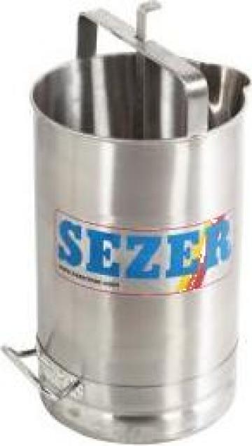 Dispozitiv din inox pentru masurare lapte, cu flotor