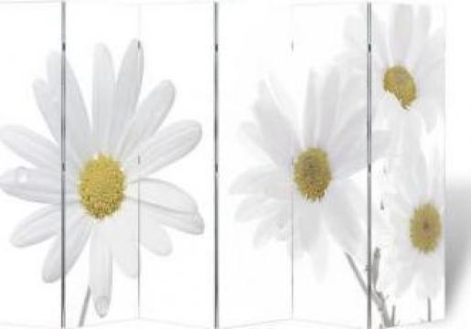 Paravan camera cu desen printat flori, 240 x 180 cm
