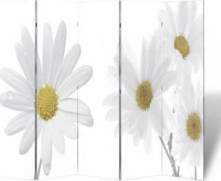 Paravan despartitor cu imprimeu floral, 200 x 180 cm