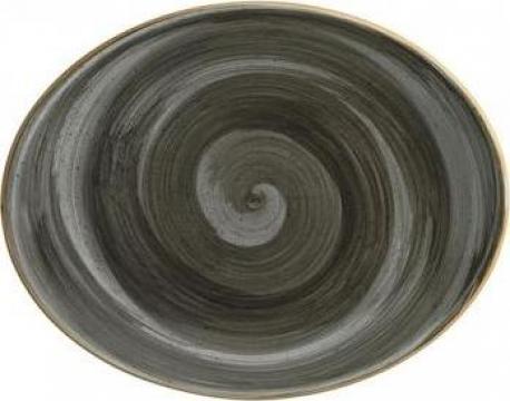 Farfurie ovala din portelan Bonna colectia Space 31cm de la Basarom Com