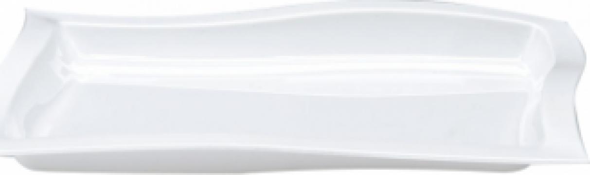 Platou policarbonat dreptunghiular Raki 30x45x2cm alba de la Basarom Com
