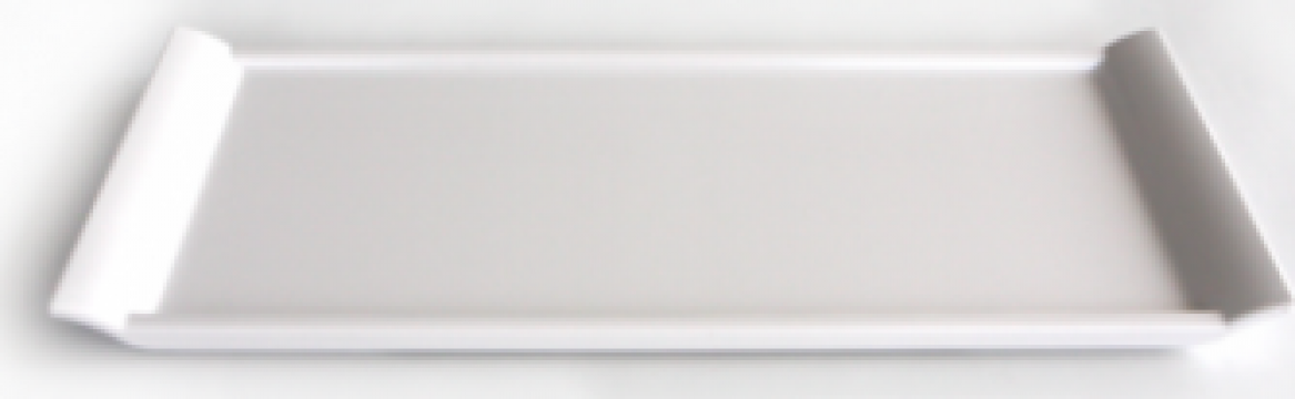 Tava servire melamina Raki 20x35x1cm alb de la Basarom Com