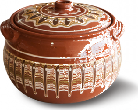 Oala ceramica-lut 1,5litri Troeanska Sarka de la Basarom Com