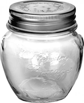 Borcan din sticla cu capac filetat 300ml de la Basarom Com