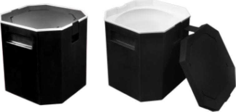 Container termic pentru gheata 13litri negru de la Basarom Com