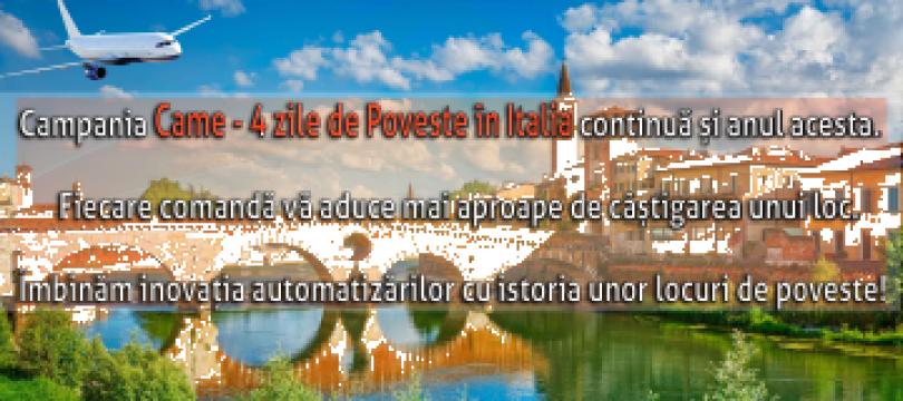 Concurs CAME - 4 zile de poveste in Italia de la Kadra Tech Srl