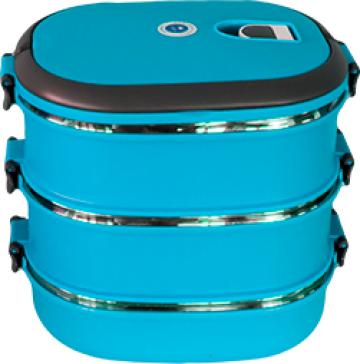 Cutie, caserola termos ovala transport alimente set 3 piese de la Basarom Com