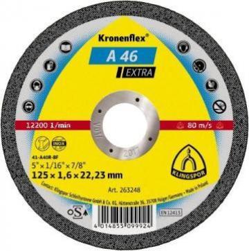 Disc debitare Klingspor 125x1,6 A46Extra de la Tibo Distribution Srl