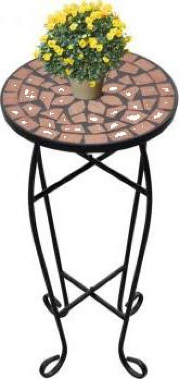 Masa cu blat ceramic, rosu-portocaliu de la Vidaxl